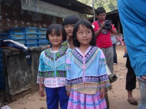 dressed up hilltribe kids