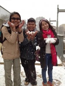 thai gang in snow